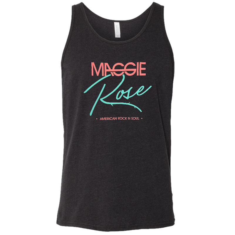 Maggie Rose Unisex Black Heather Tank
