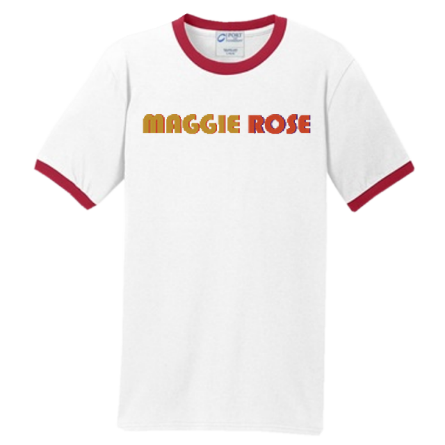 Maggie Rose White and Red Ringer Tee